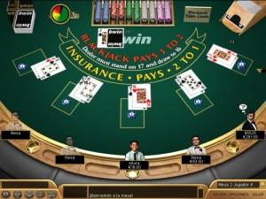 doblar en el blackjack